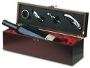 E14090 - E14090 -  Cassetta portabottiglia con accessori per la degustazione del vino